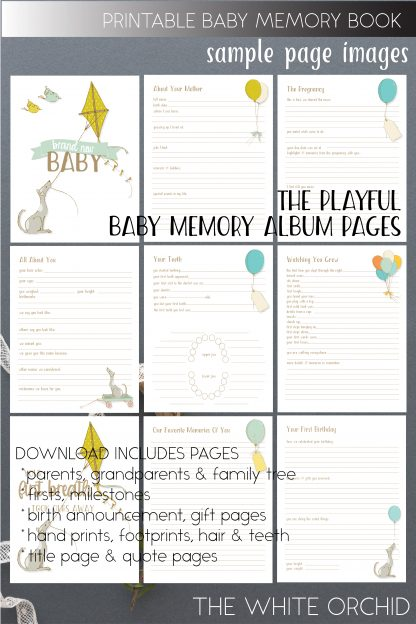 photo about Baby Memory Book Pages Printable named Printable Playful Youngster Memory web pages, keepsake al webpages,2-B305