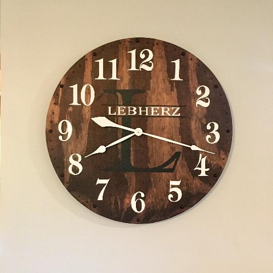 24 Inch Handmade Wooden Wall Clock Farmhouse Decor The Village