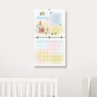 Calendar-hanging-on-wall-Beatrix-Potter-First-Year-Calendar-kimenink