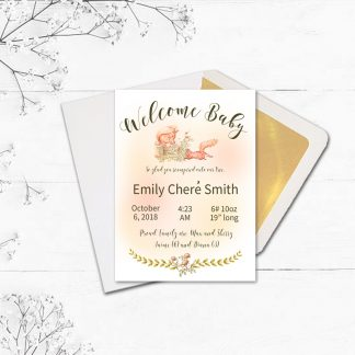 Card-Front-and-Envelope-Twinkleberry-Beatrix-Potter-Birth-Announcement kimenink