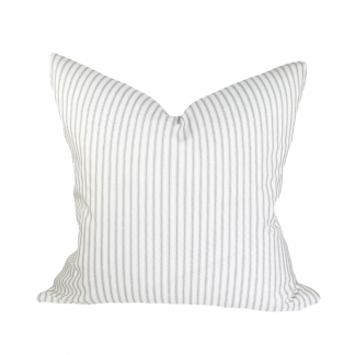 700d82898b69 You're viewing: Gray and White Ticking Stripe Pillow Cover, Classic  Farmhouse Zippered Throw Pillow Case, Cushion Cover, Modern Farmhouse Decor  USD $21.50 ...