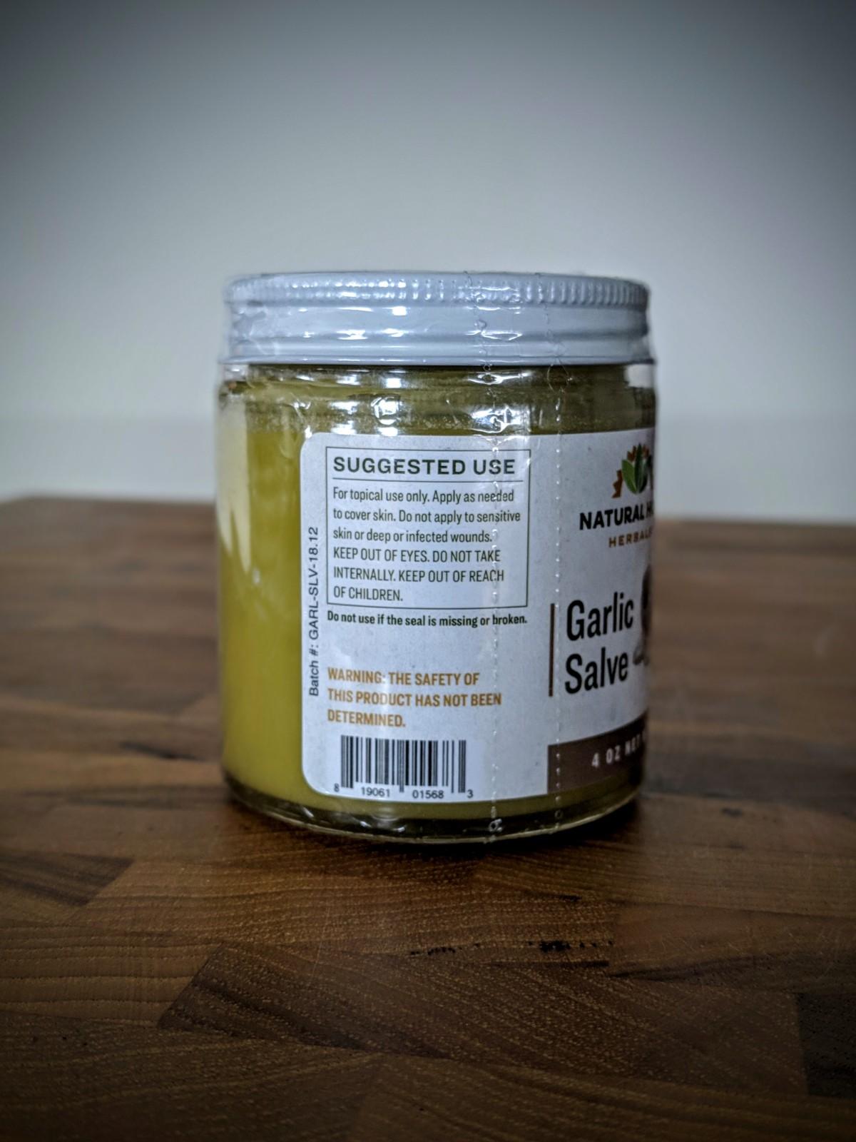 4 oz Garlic Salve