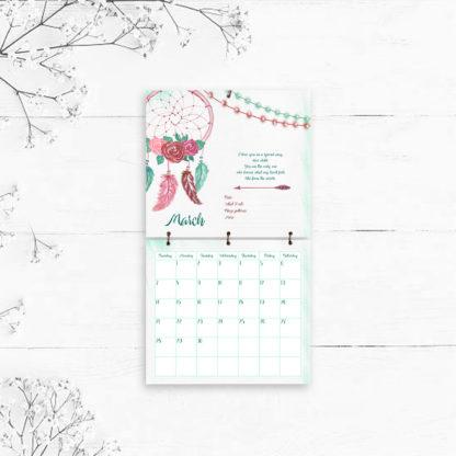 Little-Dreamer Tribal Style-Baby's-First-Year-Calendar-kimenink