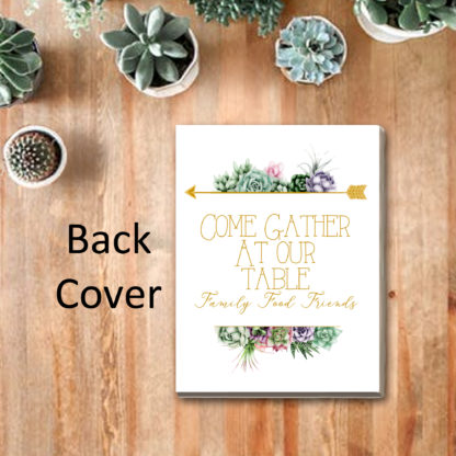 Recipe Album Watercolor Succulents Back Cover kimenink