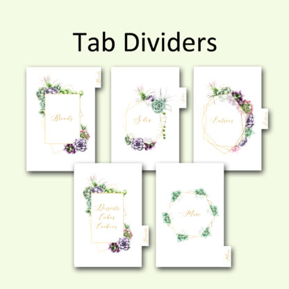 Tab-dividers-Geo-Gold-Recipe-Album kimenink