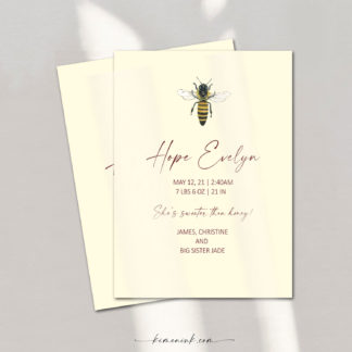 Queen-Bee-birth-announcement